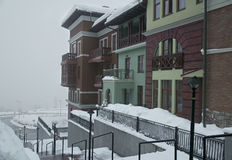 Upper Gorky Gorod - all-season resort town 960 meters above sea level Stock Photo