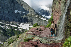 Upper Grinnel glacier trail Royalty Free Stock Images