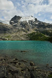 Upper Joffre Lake with Matier Glacier Royalty Free Stock Image