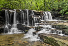 Upper Jonathan Run Falls. Jonathan Run is a beautiful stream with waterfalls at Ohiopyle State Park in the Laurel Highlands of southwestern Pennsylvania Royalty Free Stock Photos