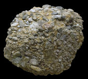 Upper Jurassic siliceous conglomerate. Block of the Upper Jurassic siliceous conglomerate Royalty Free Stock Images