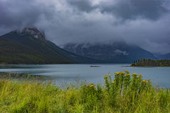 Upper Kananaskis Lake in the Rocky Mountanis near Canmore Alberta Canada Stock Photos