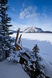 Upper Kananaskis Lake in winter - Peter Lougheed Provincial Park Stock Photo