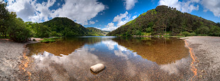 Upper Lake in Glendalough Stock Photos