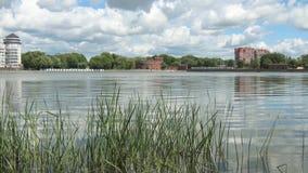Upper lake in Kaliningrad, timelaps. Kaliningrad. Upper lake in Kaliningrad, timelaps stock footage