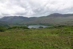 Ladies View Scenic Viewpoint in the Ring of Kerry, Killarney, Ireland. Upper Lake of Killarney National Park is shown from the Ladies View scenic outlook along royalty free stock images