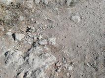 Closeup stony soil texture stock image