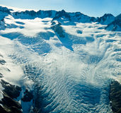 Upper level of Fox Glacier in New Zealand Stock Photos