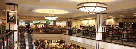 Upper level of huge book store Stock Photo