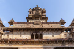 Upper level of the Jehanghir Mahal in India's Orchha. Stock Image