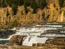 The Upper Levels of the Kootenai River Falls Stock Photo