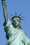 Upper liberty statue front. Upper part of the liberty statue, front view Royalty Free Stock Photography