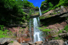Upper and Lower Kaaterskill Falls stock images