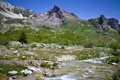 Free Upper Maira Valley - Going Up To The Maurin Pass. Royalty Free Stock Photos - 115059618