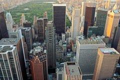 Upper Manhattan y Central Park imágenes de archivo libres de regalías