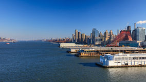 Upper Manhattanhorizon Stock Afbeelding
