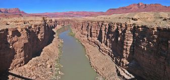 Upper marble canyon. A view of upper marble canyon from the Navajo bridge Stock Photography