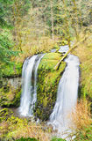 The Upper McCord Creek Falls Vertical View Royalty Free Stock Photography