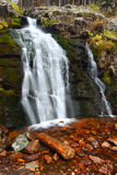 Upper Memorial Falls in Montana Stock Photography