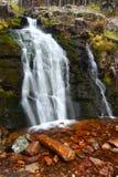 Upper Memorial Falls in Montana stock photography