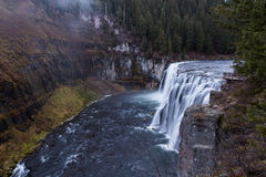 Upper Messa Falls in Idaho Royalty Free Stock Images