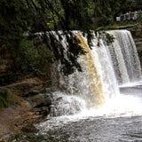 Upper Michigan waterfall stock photo