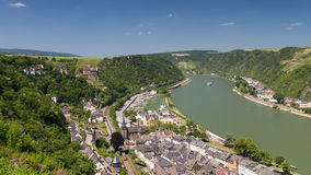 Upper Middle Rhine Valley near St. Goar Stock Photography