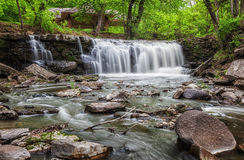 Upper Minneopa Falls. Minneopa Falls in Minneopa State Park in Mankato, Minnesota Stock Images