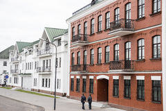 Upper Minsk Buildings. Neoclassical styled architectures on Upper Minsk and the City Hall, which is one of the oldest surviving buildings. Upper Minsk was Royalty Free Stock Photography