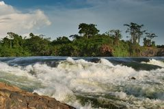 Upper Nile. Bujagali falls rapid in upper Nile, Uganda Royalty Free Stock Photography