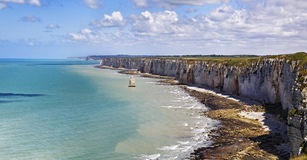 Upper Normandy Coast Royalty Free Stock Images