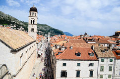 Upper of  the   old town of Dubrovnik ,Croatia Royalty Free Stock Image