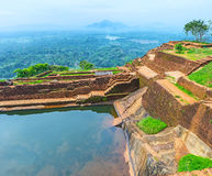 The upper palace of Sigiriya Royalty Free Stock Photography