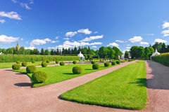 Upper Park in Pertergof, St-Petersburg city Stock Image