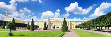 Upper Park in Pertergof, St-Petersburg city Stock Photography