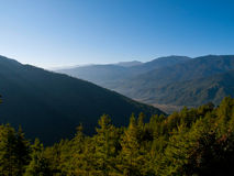 The upper Paro valley (Bhutan) Royalty Free Stock Photography