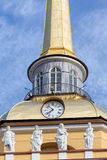 Upper part of the Admiralty tower Royalty Free Stock Photos