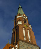 The upper part of the Catholic Cathedral in Sopot. The cathedral is located on the Baltic Sea in Sopot Stock Images