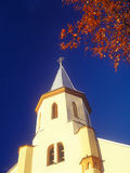 The upper part of the church in the autumn. Tyachiv, Ukraine. Stock Images