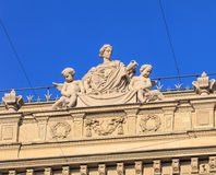 Upper part of the Credit Suisse building in Zurich Royalty Free Stock Photos