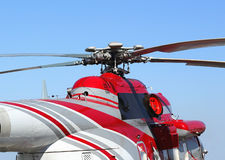 Upper part of the helicopter Stock Photo