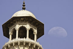 Upper part of Minaret of Taj Mahal Stock Photo