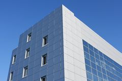Upper part of the modern office building Stock Images