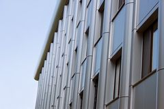 Upper part of the modern office building Royalty Free Stock Photo