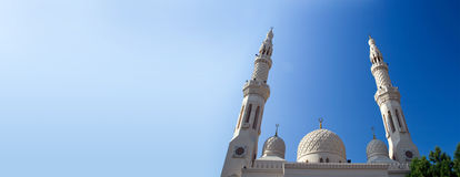 Upper part of the mosque in Dubai Royalty Free Stock Photos