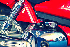 Upper part of a motorcycle engine Stock Images