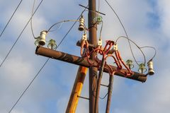 The old power line. stock images