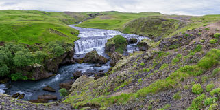 Upper part of Skogafoss Royalty Free Stock Images