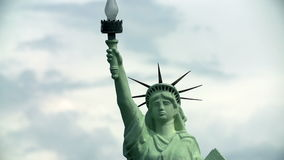 Upper part of Statue of Liberty in New York, USA stock footage
