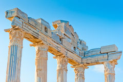 Upper part of the Temple of Apollo in Side, Turkey Royalty Free Stock Photo